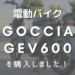 電動バイク GOCCIA GEV600を購入しました!